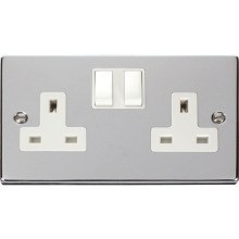 Click VPCH036WH 2 Gang 13A DP Switched Socket Outlet