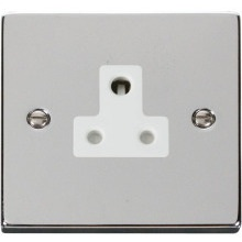 Click VPCH038WH 5A Round Pin Socket Outlet