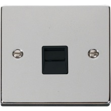 Click VPCH120BK Single Telephone Socket Outlet Master