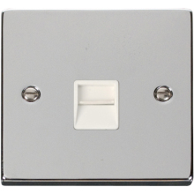 Click VPCH125WH Single Telephone Socket Outlet Secondary