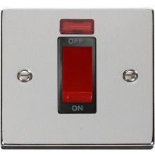 Click VPCH201BK 1 Gang 45A DP Switch With Neon