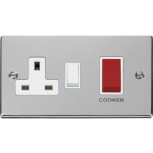 Click VPCH204WH 45A DP Switch + 13A Switched Socket