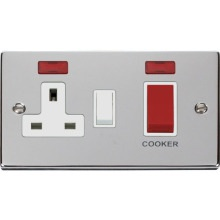 Click VPCH205WH 45A DP Switch + 13A Switched Socket & Neons (2)