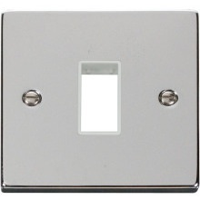 Click VPCH401WH 1 Gang Plate Single Aperture