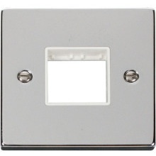 Click VPCH402WH 1 Gang Plate Twin Aperture