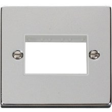 Click VPCH403WH 1 Gang Plate Triple Aperture