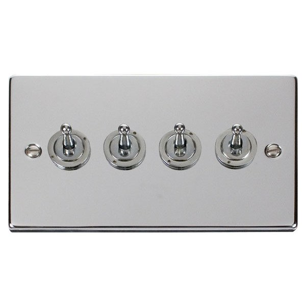 Click VPCH424 4 Gang 2 Way 10AX Toggle Switch
