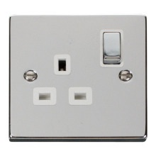 Click VPCH535WH 1 Gang 13A DP 'Ingot' Switched Socket Outlet