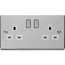 Click VPCH536WH 2 Gang 13A DP 'Ingot' Switched Socket Outlet