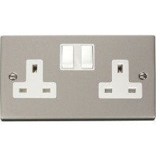 Click VPPN036WH 2 Gang 13A DP Switched Socket Outlet