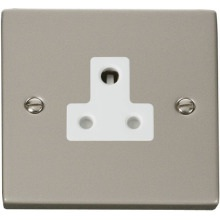 Click VPPN038WH 5A Round Pin Socket Outlet