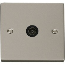 Click VPPN065BK Single Coaxial Socket Outlet