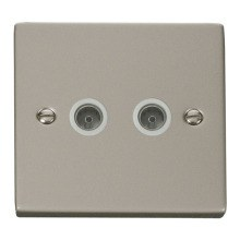 Click VPPN066WH Twin Coaxial Socket Outlet