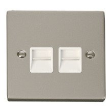 Click VPPN126WH Twin Telephone Socket Outlet Secondary