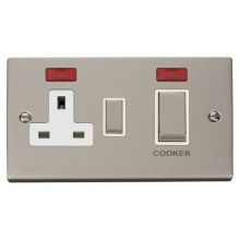 Click VPPN505WH Ingot 45A DP Switch + 13A Switched Socket & Neons (2)