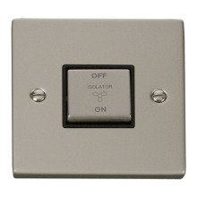 Click VPPN520BK 10A 1 Gang 'Ingot' 3 Pole Fan Isolation Switch