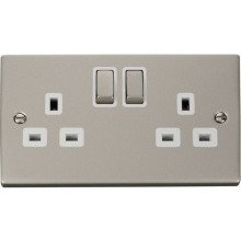 Click VPPN536WH 2 Gang 13A DP 'Ingot' Switched Socket Outlet