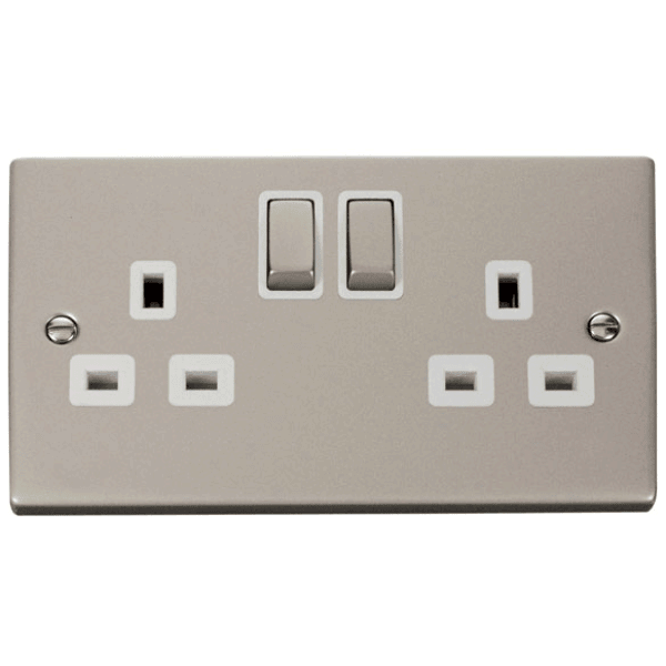 Click VPPN536WH 2 Gang 13A DP Ingot Switched Socket Outlet
