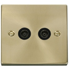 Click VPSB066BK Twin Coaxial Socket Outlet