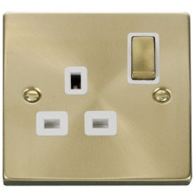 Click VPSB535WH 1 Gang 13A DP 'Ingot' Switched Socket Outlet