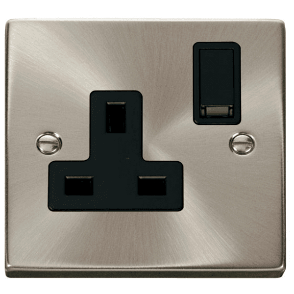 Click VPSC035BK 1 Gang 13A DP Switched Socket Outlet