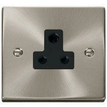 Click VPSC038BK 5A Round Pin Socket Outlet