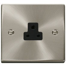 Click VPSC039BK 2A Round Pin Socket Outlet