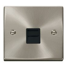 Click VPSC125BK Single Telephone Socket Outlet Secondary