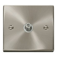 Click VPSC156WH 1 Gang Satellite Socket Outlet