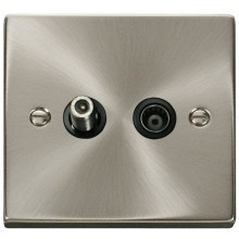 Click VPSC157BK 1 Gang Satellite & Isolated Coaxial Socket Outlet
