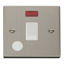 Click VPSS023WH 20A 1 Gang DP Switch With Flex Outlet And Neon