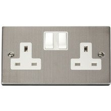 Click VPSS036WH 2 Gang 13A DP Switched Socket Outlet
