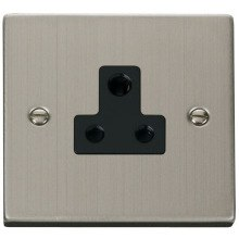 Click VPSS038BK 5A Round Pin Socket Outlet