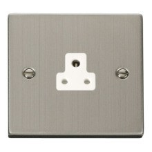Click VPSS039WH 2A Round Pin Socket Outlet