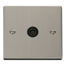 Click VPSS065BK Single Coaxial Socket Outlet
