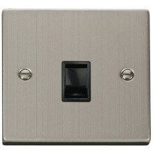Click VPSS115BK Single RJ11 Socket (Ireland/USA)