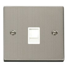 Click VPSS115WH Single RJ11 Socket (Ireland/USA)