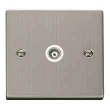 Click VPSS158WH Single Isolated Coaxial Socket Outlet
