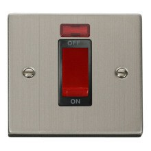 Click VPSS201BK 1 Gang 45A DP Switch With Neon