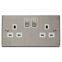 Click VPSS536WH 2 Gang 13A DP 'Ingot' Switched Socket Outlet