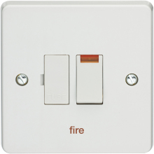 Crabtree 4827/3/FI 13A Switched Fused Connection Unit Neon (Fire)
