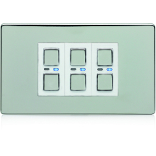 Deta 3G 9503SCW Satin Chrome Master Dimmer