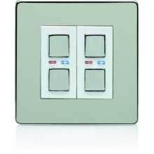 Deta 2G 9512SCW Satin Chrome Slave Dimmer