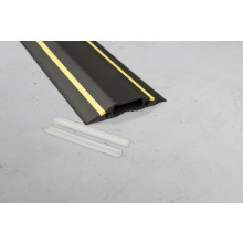 D-Line FC83H 1.8M Black/Yellow Medium Duty Cable Cover 30x10mm - 83mm Wide