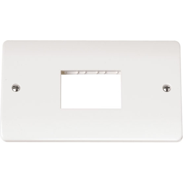 Double MiniGrid Switch Plate Triple Aperture