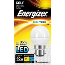 Energizer S8104 6W LED Golf BC Opal Warm White