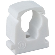 FM Products P610 Link Lock Pipe Clip 15mm Sgl Wh