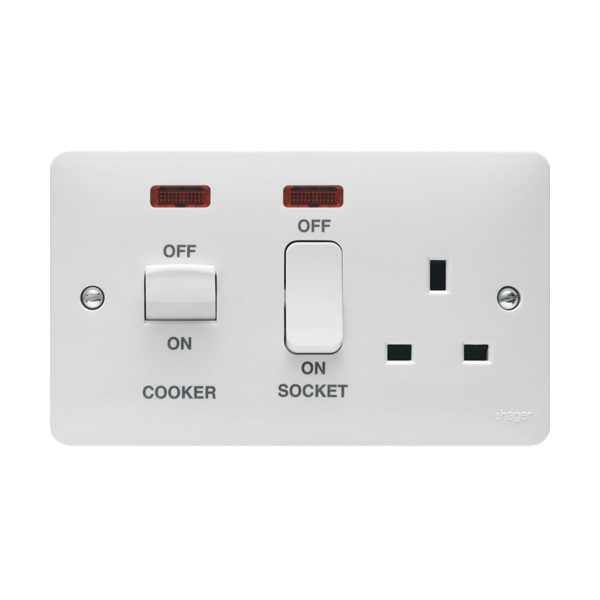 Cooker Control Unit ~ Hager wmcc n a cooker control unit with led indicator