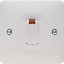 Hager WMDP84N 20A Double Pole Switch With LED Indicator