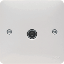 Hager WMTVF Single Coaxial TV Socket Outlet Male